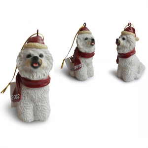 bichon Frise tree hanging