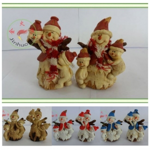 Snowman with scarf Family Figurine