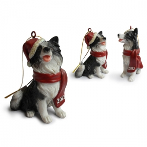 Border Collie Christmas Tree Ornaments