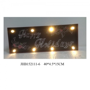 Happy Holidays iron Wall Decorations christmas Sign Plaque